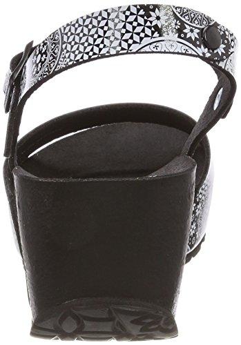 Desigual Damen Shoes_bio7 Alhambra Slingback Sandalen Schwarz (2000 NEGRO)