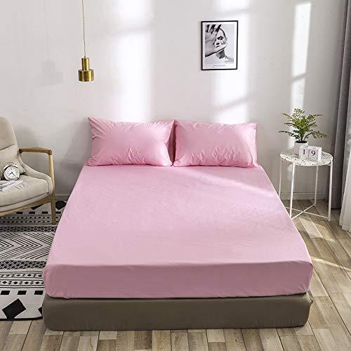 SUYUN Extra elastischer und widerstandsfähiger Matratzenbezug/Matratzenüberzug,Einfarbige Schutzhülle für Ärmel, tiefpurpurn 180 * 220 cm, einzeln