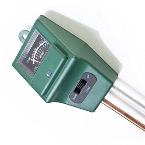 Pixnor ® 3 in 1 PH Boden Tester Wasser Licht Test Feuchtemessgerät für Garten Pflanze Blume Gras Rasen