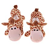 perfk Paio di Copriscarpe per Pattinaggio su Ghiaccio Riutilizzabile Copre Copriscarpe Elastici Shoes Cover con Forma Animale - Giraffa