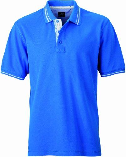 James & Nicholson Herren Poloshirt Poloshirt Men's Lifestyle cobalt/off-white