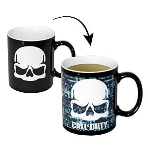 Call of Duty ThermoeffektTasse Skull – weiß, schwarz, Bedruckt, aus Keramik, Fassungsvermögen ca. 320 ml.