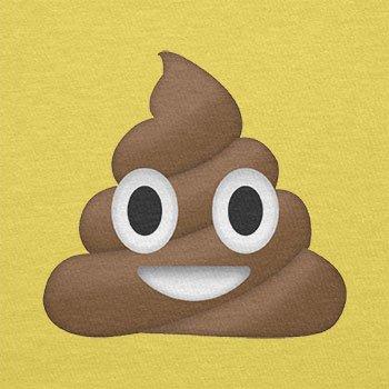 Texlab–Poo Emoji–sacchetto di stoffa Gelb