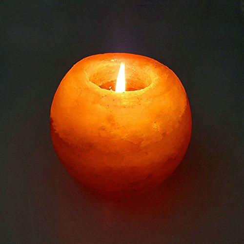 Pegasus Crystal Himalayan Night Light Candle Holder Natural Salt Rock Tealight Air...