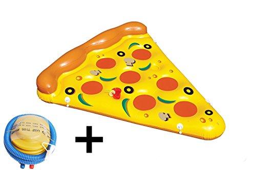 icase4u® Luftmatratze Pizza(180*150cm) Scheibe Schwimmring Für Kinder und Erwachsene Schwimmen Ring