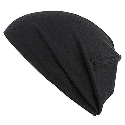 Buff Merino Wool Reversible Hat Solid Black Mütze Beanie
