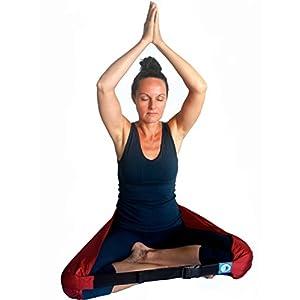 Halteband für Sitzhaltung, Meditation und Yoga, tragbarer Gürtel im Stil eines Sitzkissenstuhls