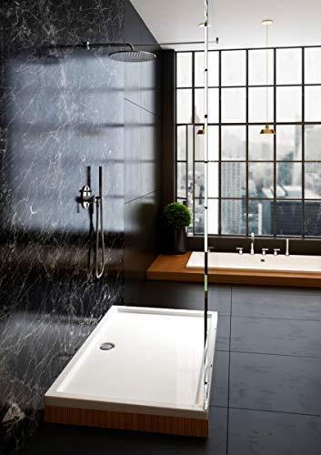 duschwanne 140 Galdem Duschwanne 140x90x4cm Rechteck Eckig Flach Wanne Hochwertige Duschtasse aus Acryl für Duschabtrennung Duschkabine