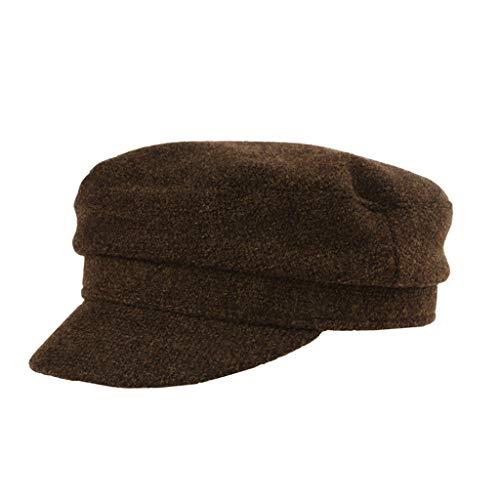 Nosterappou Herbst und Winter dunkle Kaffeemütze, geeignet für alle Outdoor-Aktivitäten, weiches Material, warm im Freien, geeignet für alle Gelegenheiten von Unisex-Hüten, sehr schöne Mode lässig, Ge