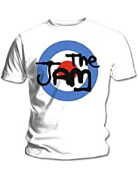 Official White T Shirt THE JAM Spray BULLSEYE Logo XXL