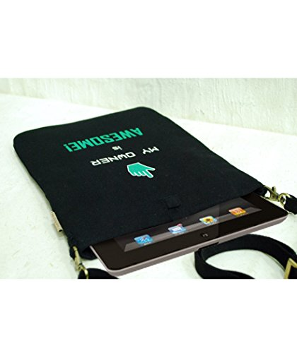 Clean Planet Canvas Quotient Awesome Owner Sling Tablet Sleeve