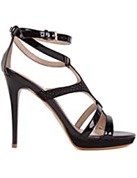 Versace Escarpins Femmes Hauts talons Sandales à brides Noir BS30