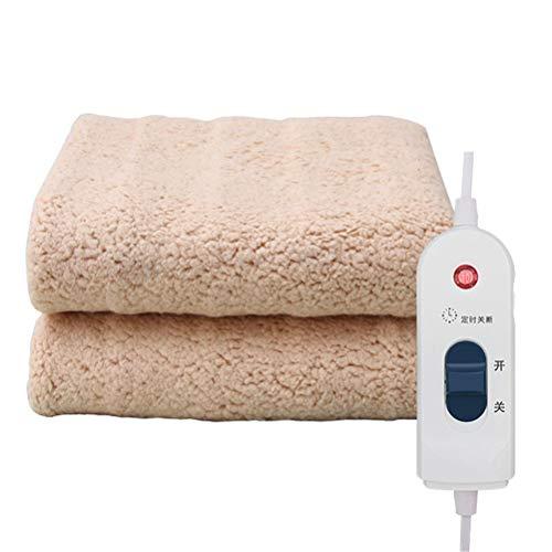 Dbtxwd Beheizte Warme Decke Super Weiche Bequeme Sicherheit Strahlungsfreie Elektrische Sanitärdecke Für Couch Sofa Bettwäsche Reise,Flesh,180 * 150Cm (Beste Werfen Elektrische Decke)