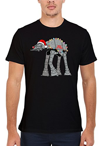 Star Wars Inspired Christmas at-at Novelty Men Women Unisex Top T Shirt-XL