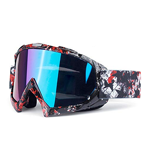 Epinki Unisex TPU Motorradbrillen Brillenträger Skibrille Schneebrille Snowboardbrille Radsportbrille Radbrille Schutzbrillen für Skifahren Schneemobil Motorrad Fahrrad, Stil L