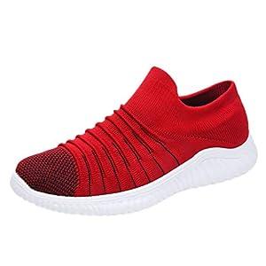 EUZeo Herren Fliegende Gewebte Atmungsaktive Einbeinige Faule Socken Schuhe Einfarbige Freizeitschuhe Outdoor Running leicht Turnschuhe Sportschuhe Freizeitschuhe