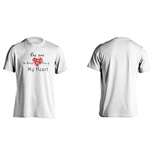 Tu sei il pezzo mancante del mio cuore novità divertente Uomo T-shirt b3m White