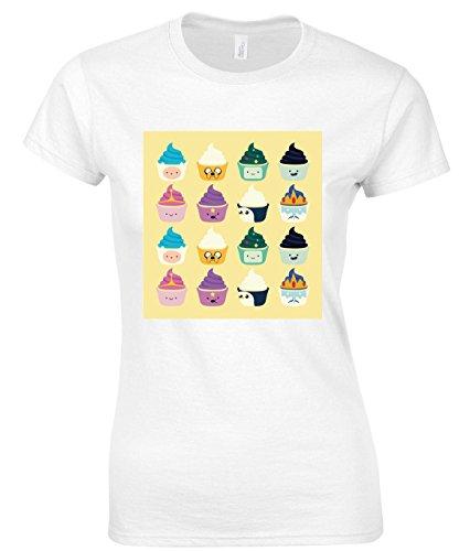 Adventure Time Cupcakes Maglietta delle donne XX-Large