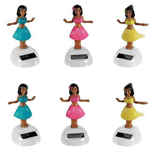Bada Bing 6er Sparset Solar Wackel Figur Hula Girl Hawaii Mädchen Tänzerin Vorteilspack Mitbringsel Geschenk TT