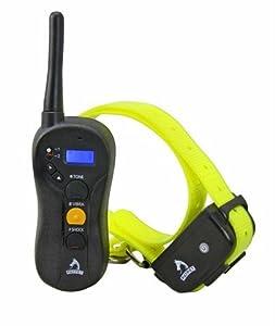 Collier de dressage PROFESSIONEL - HAUTE QUALITE - pour chiens de taille importante - avec bip, vibration et choc electrique – Contrôle manuel portée 600m