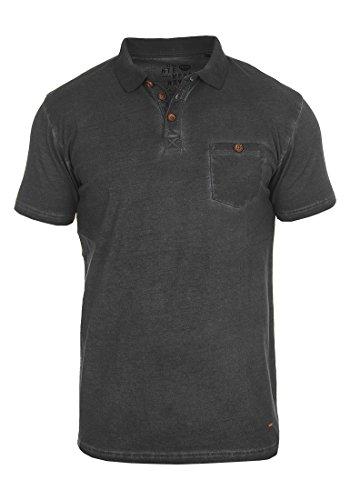 !Solid Termann Herren Poloshirt Polohemd T-Shirt Shirt mit Polokragen Aus 100% Baumwolle, Größe:M, Farbe:Black (9000)