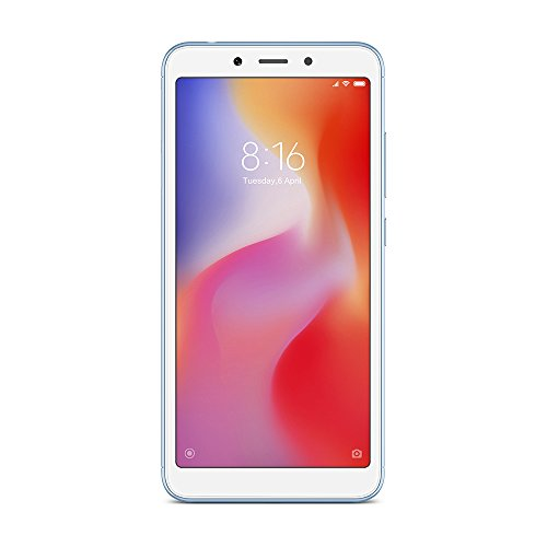 "Xiaomi Redmi 6A - Smartphone 5.45"" (Quad-Core 2.0 GHz, RAM 2 GB, memory 16 GB, GBmera of 13 MP, Android 8.1) Color blue"