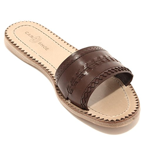 92961 ciabatta CAR SHOE VITELLO NATURAL scarpa sandalo donna shoes women Marrone