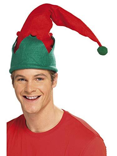 costumebakery - Kostüm Accessoires Zubehör Lange Weihnachts-Elfen Kobold Mütze Schlafmütze, Christmas Elf Hat, perfekt für Weihnachten Karneval und Fasching, Rot (Weihnachten Elf Kostüm Zubehör)
