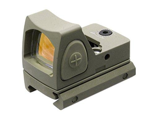 BEGADI Mini/Compact Red Dot, stufenlos verstellbar, mit 20-23mm Weaver Montage - TAN