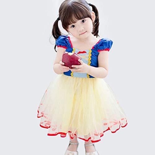 CQY Mädchen Prinzessin Schneewittchen Kleid Cinderella Kleid Rapunzel Kleid Meerjungfrau Kleid Kostüme für Baby ()