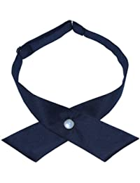 Crossover butterfly bow tie Navy Blue