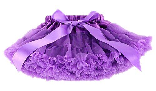 DATO Mädchen Kinder Rock Petticoat Underskirt Tanzkleid Tutu Kostüme Mehrschichtige Röcke, lila L