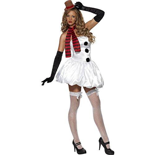 Fever, Damen Sexy Schneemann Kostüm, Kleid, Schal und Hut, Größe: L, 33138