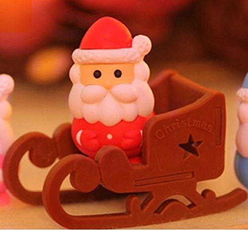 Iwako Red Weihnachtsmann und Schlitten japanischen Radiergummis