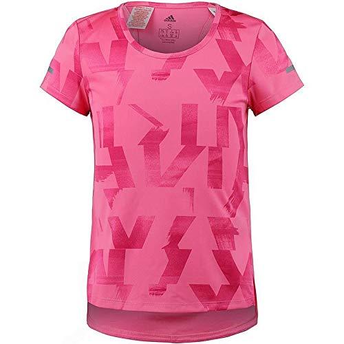 adidas Kinder Run Kurzarm Shirt Semi Solar Pink/Real Magenta/Reflective Silver 164