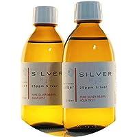 PureSilverH2O 2X Flasche (je 250ml / 25ppm) kolloidales Silber Set - 99,99% Feinsilber preisvergleich bei billige-tabletten.eu