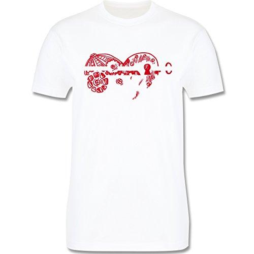 Valentinstag - Schlüssel zum Herzen - Herren Premium T-Shirt Weiß