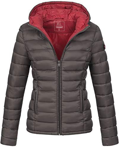 Marikoo Damen Jacke Steppjacke Übergangsjacke gesteppt B651   B651-Luc-Anthrazit-Gr.XL  902fdfb596