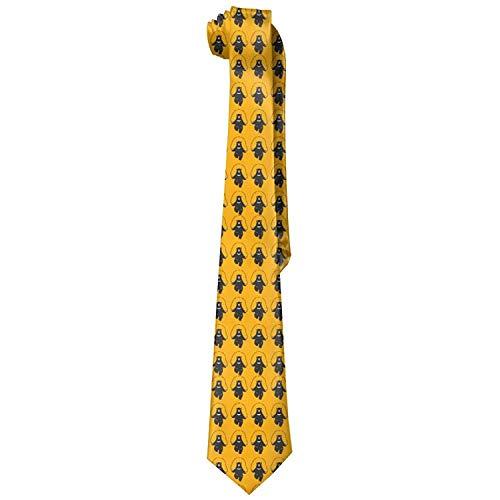 deyhfef Men's Rope Skipping Bear Novelty Krawatte Formal Skinny Tie For Wedding Prom Party