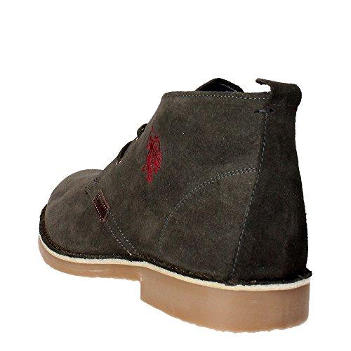 U.s. Polo Assn MUST3119S4/S9 Chaussures À Lacets Homme Suède Anthracite