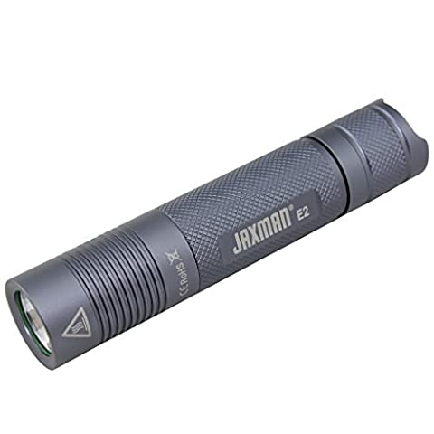 JAXMAN E2 18650 EDC LED flashlight Pocket-Sized LED Torch, Super Bright 580 Lumens,IPX-8, 5 Modes for Indoors and Outdoors( without battery) (Nichia 219B Neutral White/Color Temperature
