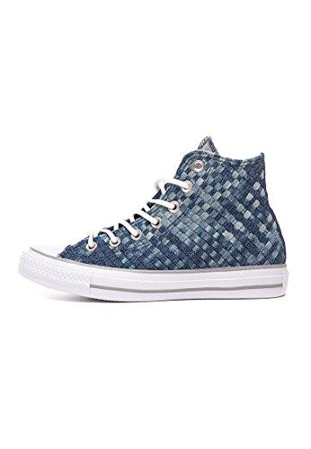 Converse Homme ÉTG Weave Hi Baskets, Bleu Bleu