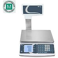 Balanza comercial con COLUMNA Baxtran XTI30 (30Kg x 10g) (31x22cm) Pesada DUAL