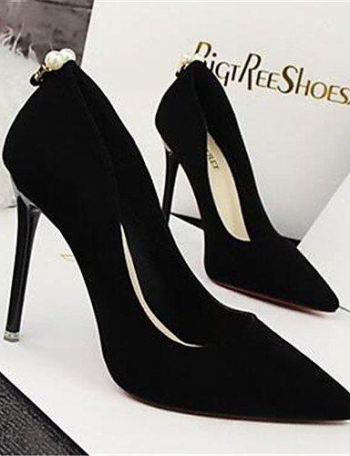 WSS 2016 Chaussures Femme-Habillé / Soirée & Evénement-Noir / Vert / Rose / Rouge / Gris-Talon Aiguille-Talons-Talons-Synthétique gray-us6 / eu36 / uk4 / cn36