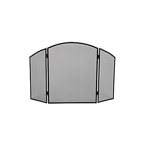Pare feu barrière 3 volets pour cheminée poele 94,5 x 50 cm REF BB50110