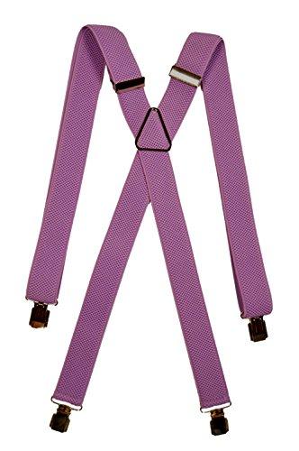 Olata bretelle elasticizzata per bambini 5-12 anni, x' clip design/metallo - lilla