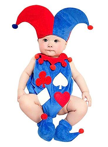 Happy Cherry Neugeborenes Baby Poker Figur Foto Kostüm (Hut + Overall + Schuhen)...