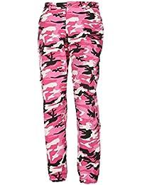 fad8d22b1e2d TWIFER Frauen Sport Street Camo Cargo Hosen Damen Outdoor Camouflage Dance  Jeans
