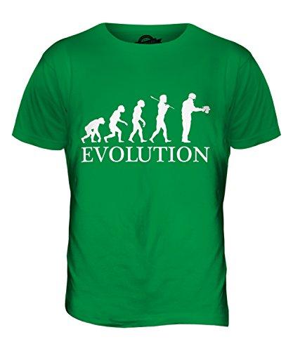 CandyMix Airbrush Evolution Des Menschen Herren T Shirt Grün