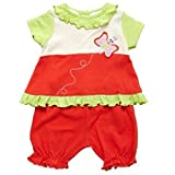 F.S. Baby - Ensemble bébé fille - T-Shirt & bloomer - Broderie papillon - 2 pièces (9 mois)